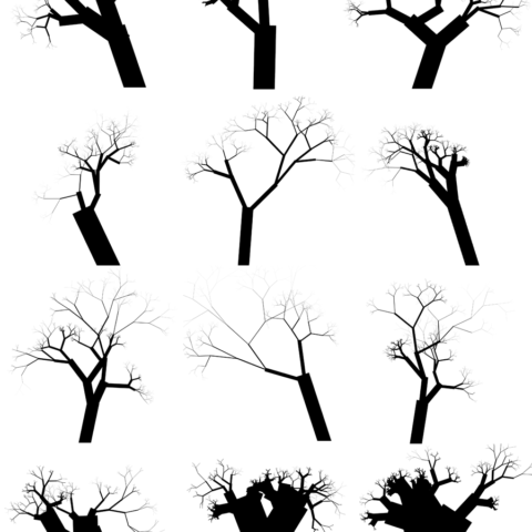 creepy trees randomly generated